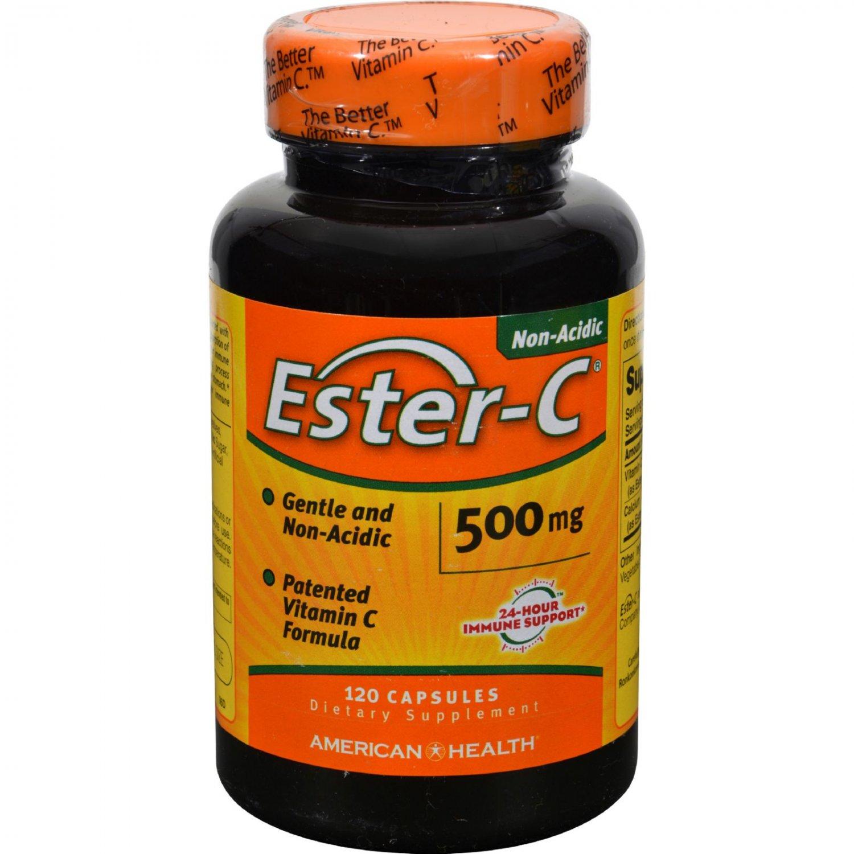 American Health Ester-C - 500 mg - 120 Capsules