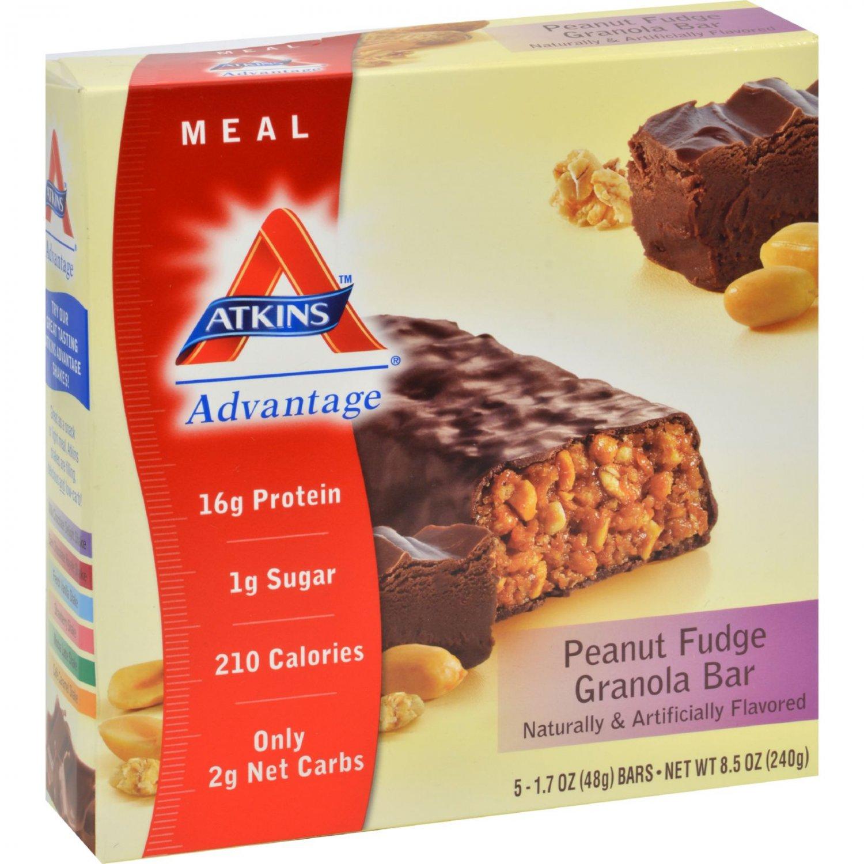 Atkins Advantage Bar Peanut Fudge Granola - 5 Bars