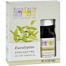Aura Cacia Pure Essential Oil Eucalyptus Globulus - 0.5 fl oz - Case of 3