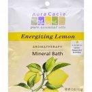 Aura Cacia Aromatherapy Mineral Bath Energizing Lemon - 2.5 oz - Case of 6