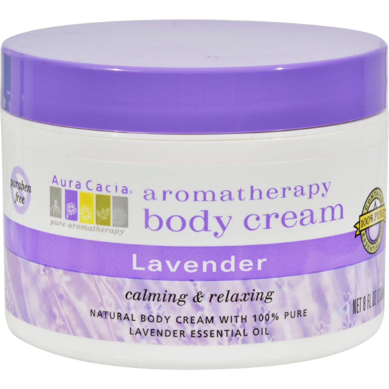 Aura Cacia Body Cream Lavender - 8 fl oz