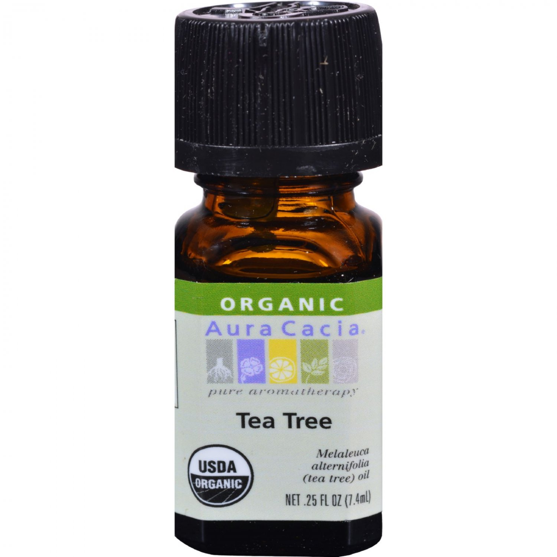 Aura Cacia Organic Essential Oil - Tea Tree - .25 oz