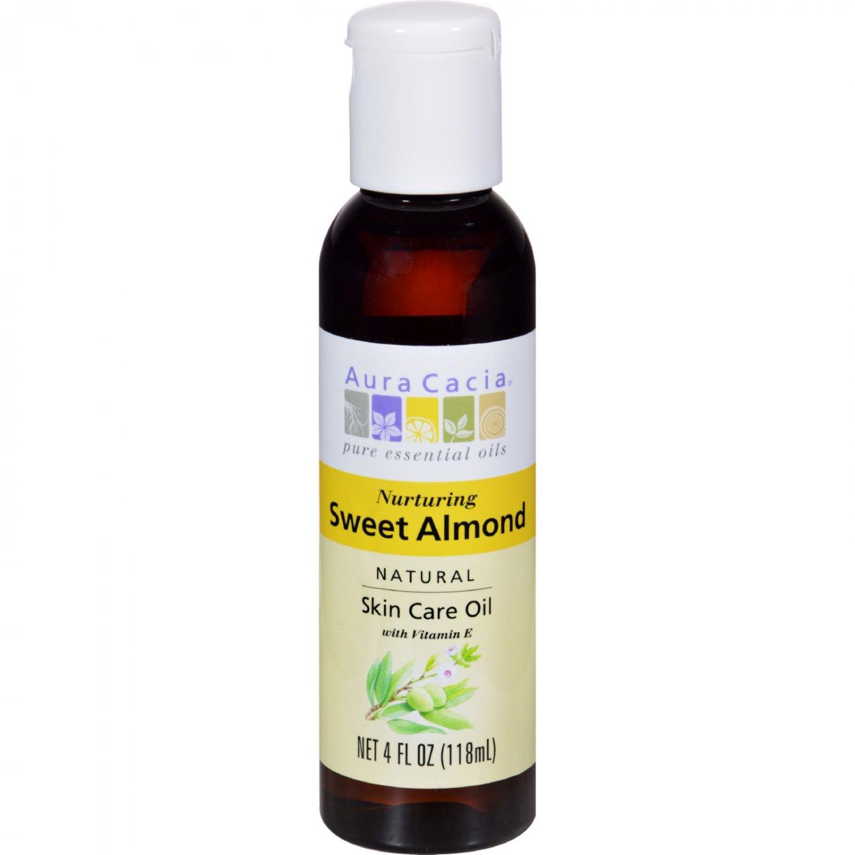 Aura Cacia Sweet Almond Natural Skin Care Oil - 4 fl oz