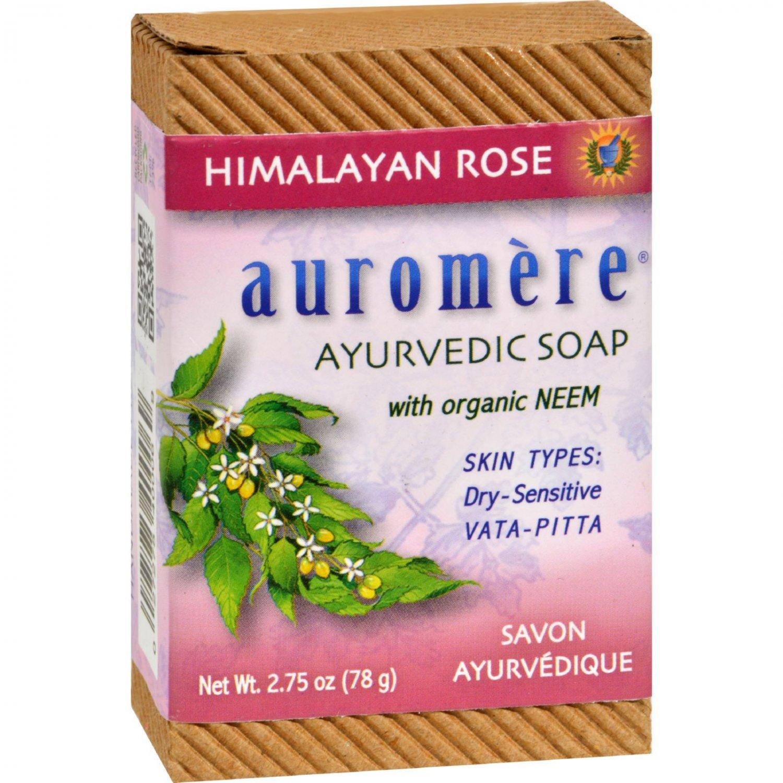 Auromere Ayurvedic Bar Soap Himalayan Rose - 2.75 oz