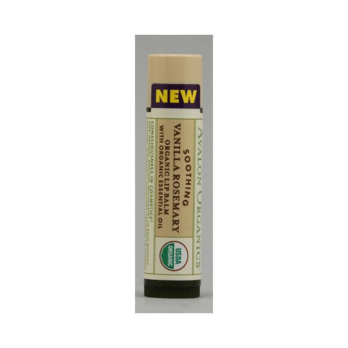 Avalon Organics Soothing Organic Rosemary Lip Balm Vanilla - 0.15 oz - Case of 24