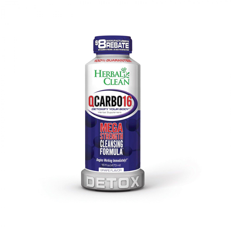 Herbal Clean QCARBO16 Mega Strength Grape - 16 fl oz