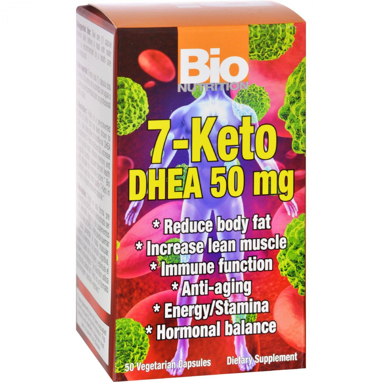 Bio Nutrition 7 Keto DHEA 50 mg - 50 Vegetarian Capsules