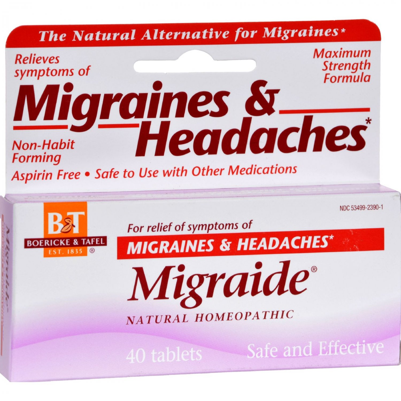 Boericke and Tafel Migraide - 40 Tablets