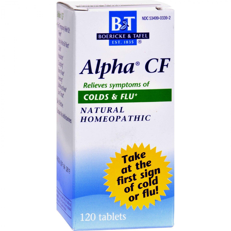 Boericke and Tafel Alpha CF - 120 Tablets
