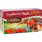 Celestial Seasonings Herbal Tea - Cranberry Apple Zinger - Caffeine Free - 20 Bags