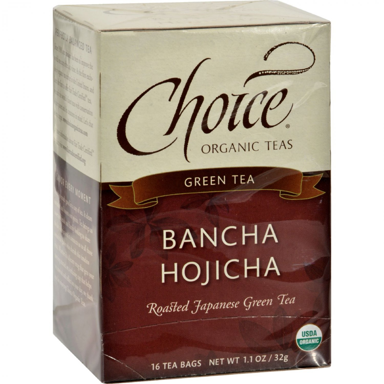 Choice Organic Teas Ban-Cha Toasted Green Tea - 16 Tea Bags - Case of 6