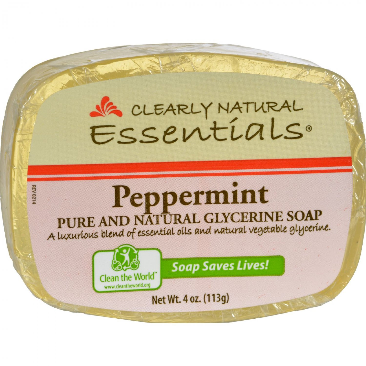 Clearly Natural Glycerine Bar Soap Peppermint - 4 oz