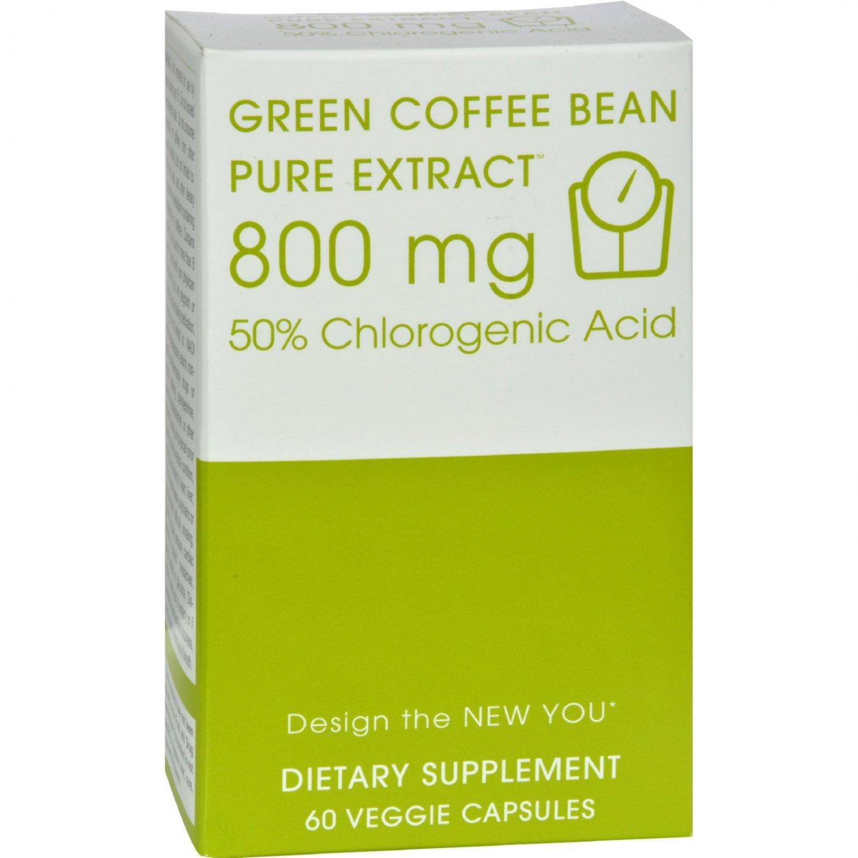 Creative Bioscience Green Coffee Bean Pure Extract - 800 mg - 60 Vcaps