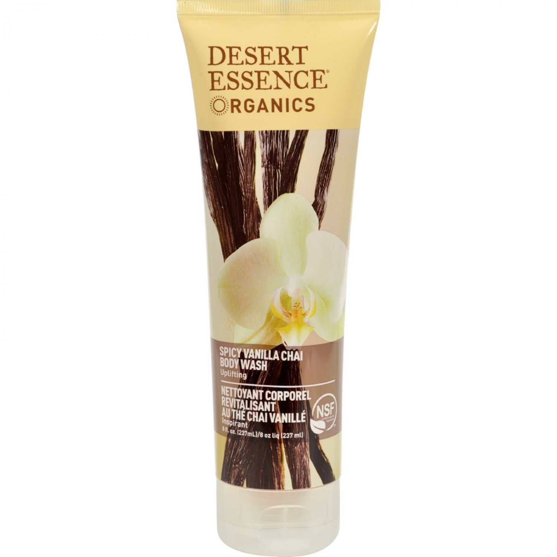 Desert Essence Body Wash Vanilla Chai - 8 fl oz