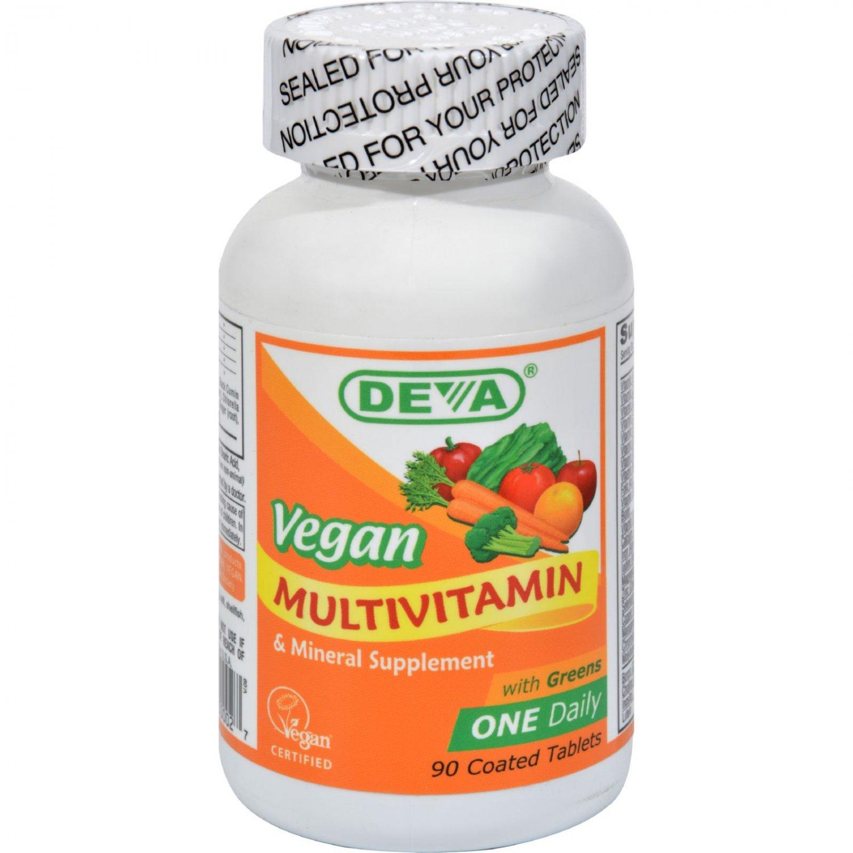 Deva Vegan Multivitamin and Mineral Supplement - 90 Coated Tablets