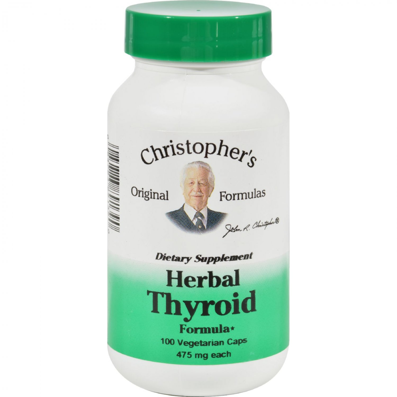Dr. Christopher's Herbal Thyroid - 475 mg - 100 Vegetarian Capsules