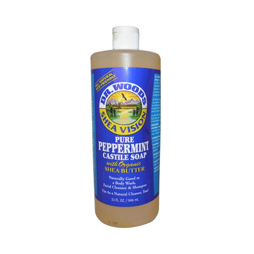Dr. Woods Shea Vision Pure Castile Soap Peppermint with Organic Shea Butter - 32 fl oz