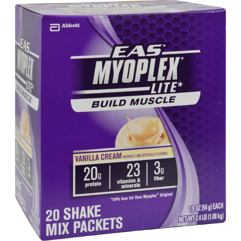 EAS Myoplex Lite Nutrition Shake Vanilla Cream - 20 Packets