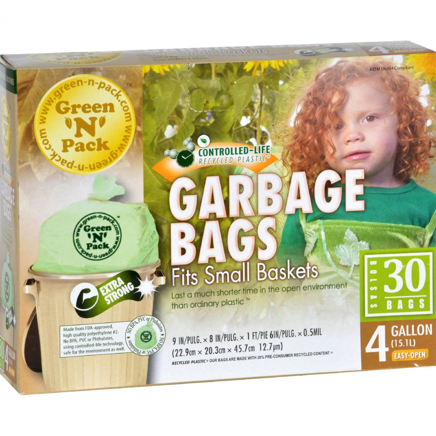 Green-n-Pack Small Trash Bags - 4 Gallon - 30 Pack