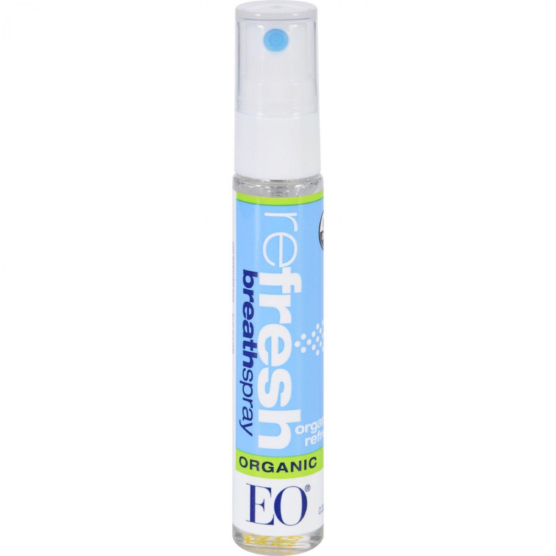 EO Products Breath Spray - Organic reFresh - Counter Dsp - .33 oz - 1 Case