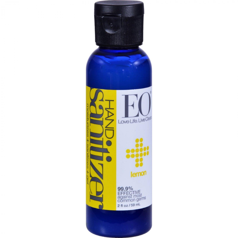 EO Products Hand Sanitizer - Lemon - 2 fl oz - Case of 6