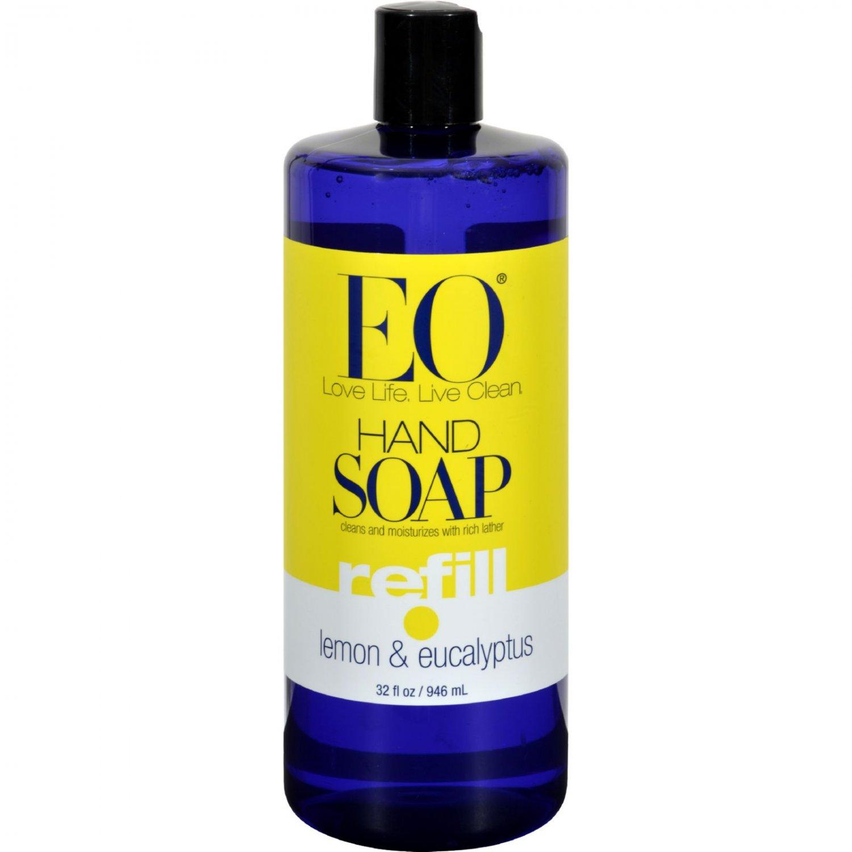 EO Products Liquid Hand Soap Lemon And Eucalyptus - 32 fl oz