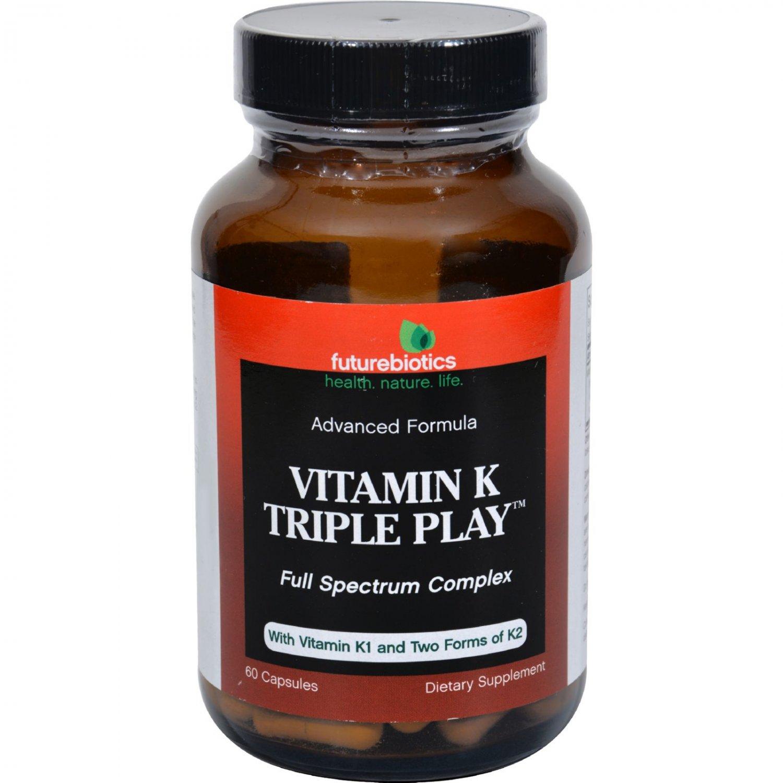 FutureBiotics Vitamin K Triple Play - 60 Capsules