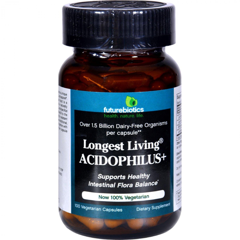 FutureBiotics Longest Living Acidophilus Plus - 100 Capsules