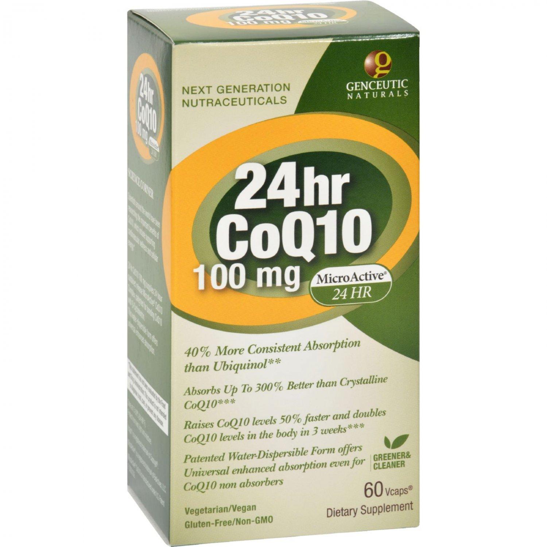 Genceutic Naturals 24 Hour CoQ10 - 100 mg - 60 Vcaps