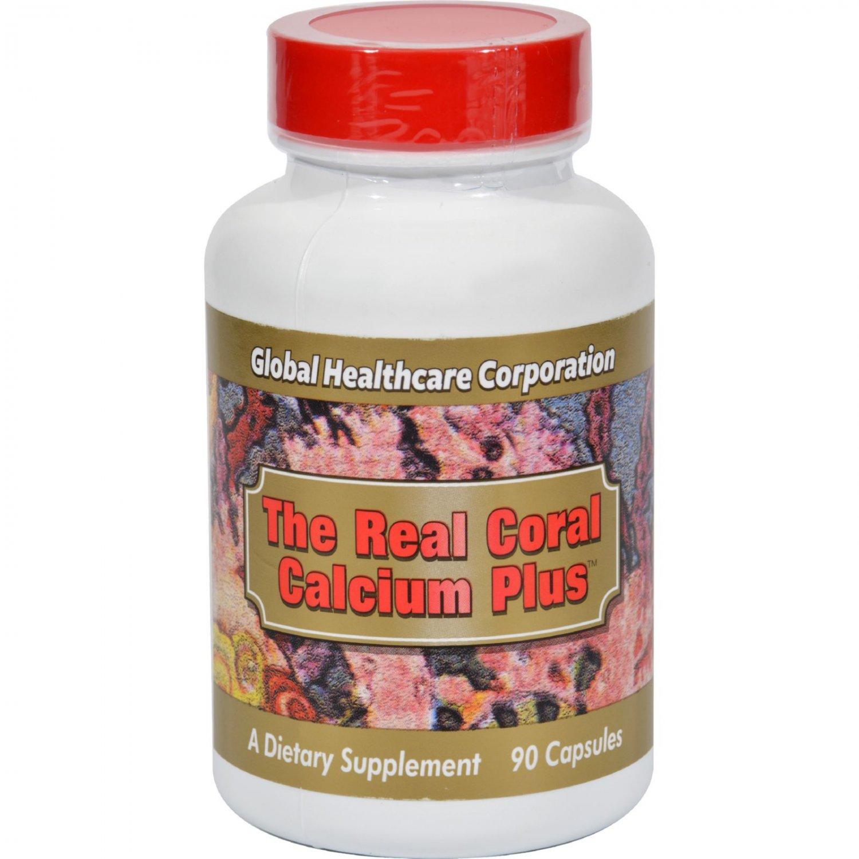 Global Healthcare The Real Coral Calcium Plus - 90 Capsules