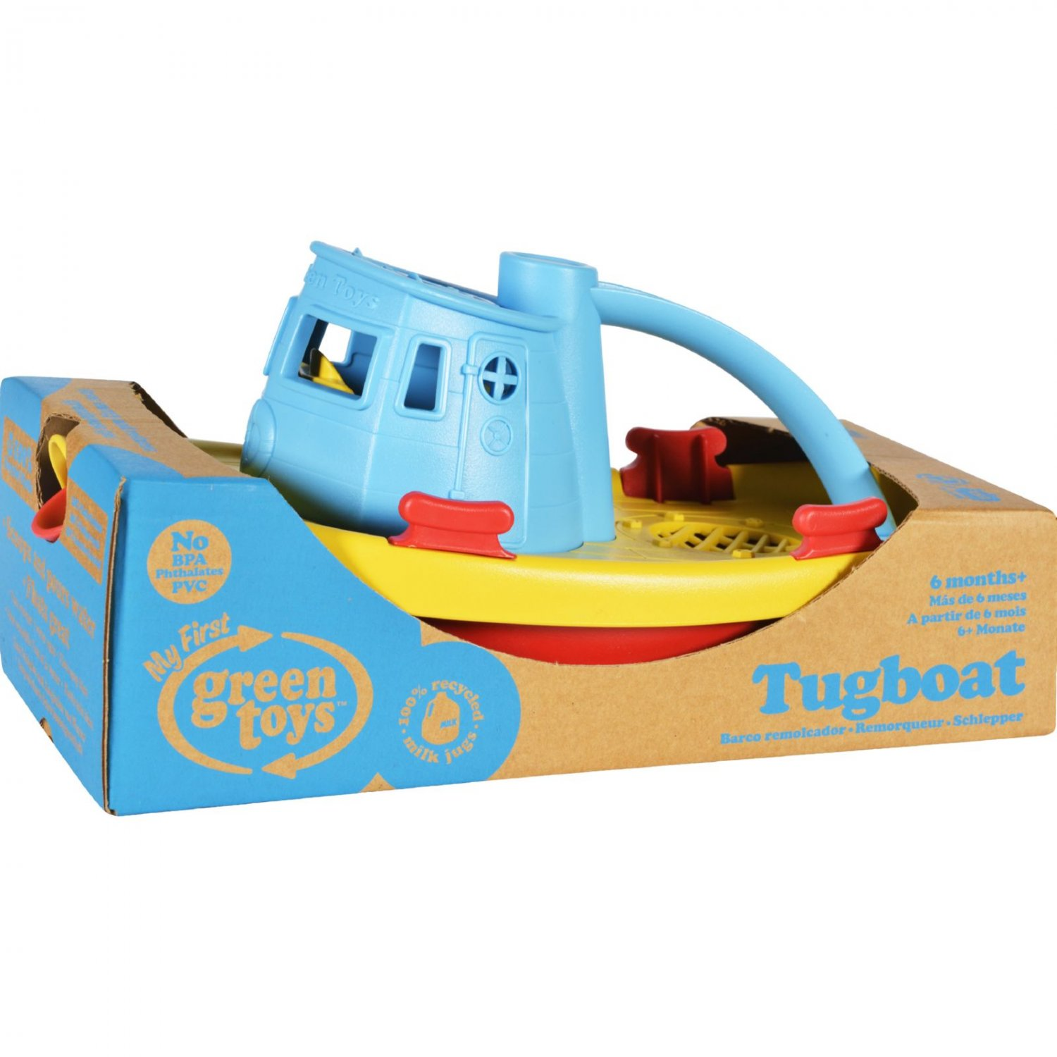 Green Toys Tug Boat - Blue
