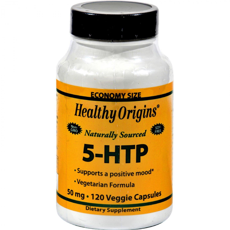 Healthy Origins Natural 5-HTP - 50 mg - 120 Capsules