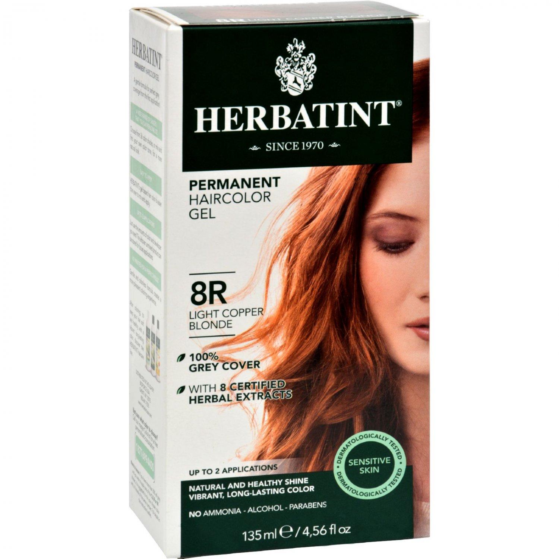 Herbatint Permanent Herbal Haircolour Gel 8R Light Copper Blonde - 135 ml