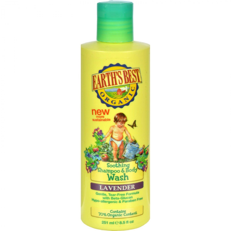 Earth's Best Organic Shampoo and Body Wash Lavender - 8.5 fl oz