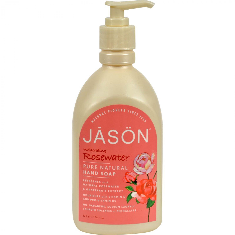 Jason Pure Natural Hand Soap Invigorating Rosewater - 16 fl oz