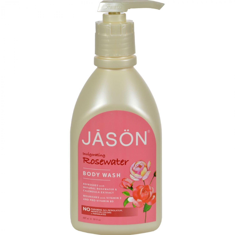 Jason Body Wash Pure Natural Invigorating Rosewater - 30 fl oz