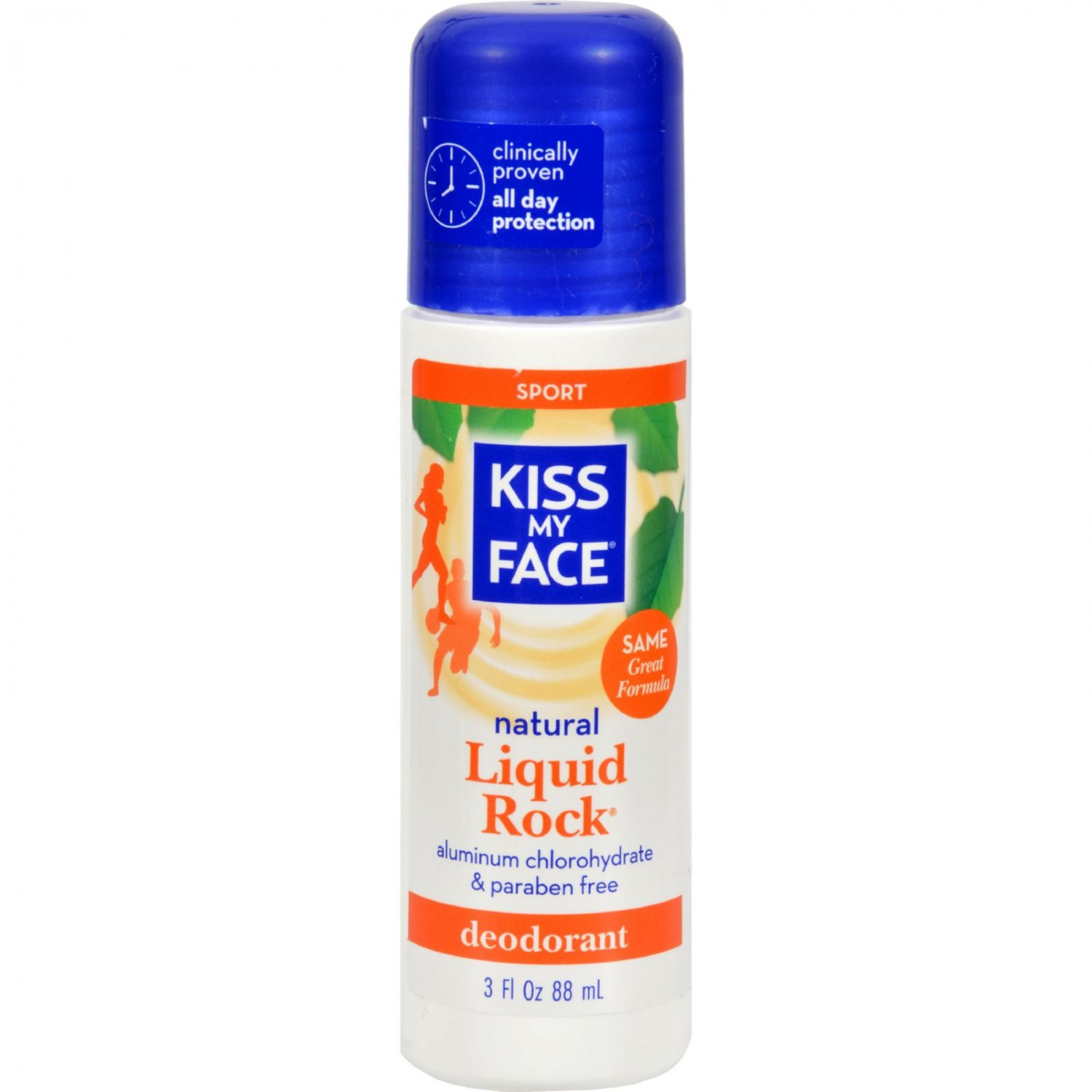 Kiss My Face Deodorant Liquid Rock Roll On Sport - 3 fl oz
