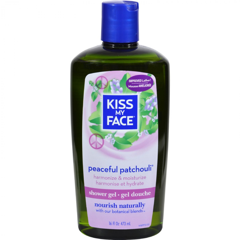 Kiss My Face Bath and Shower Gel Peaceful Patchouli - 16 fl oz