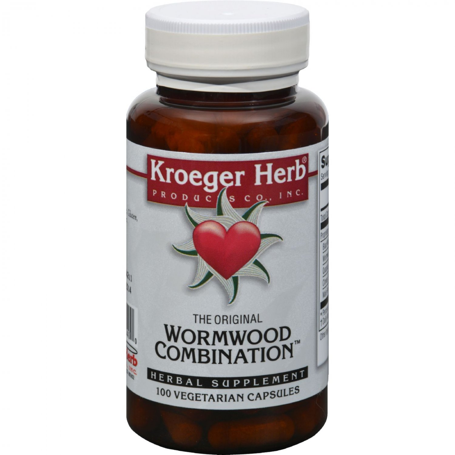 Kroeger Herb Wormwood Combination - 100 Vegetarian Capsules
