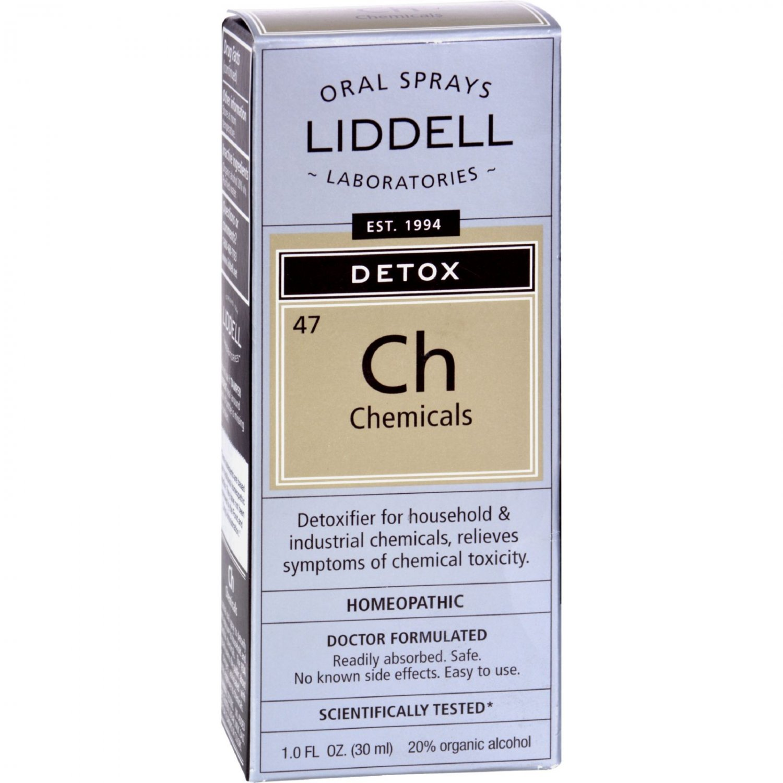 Liddell Homeopathic Chemical Detox Spray - 1 fl oz