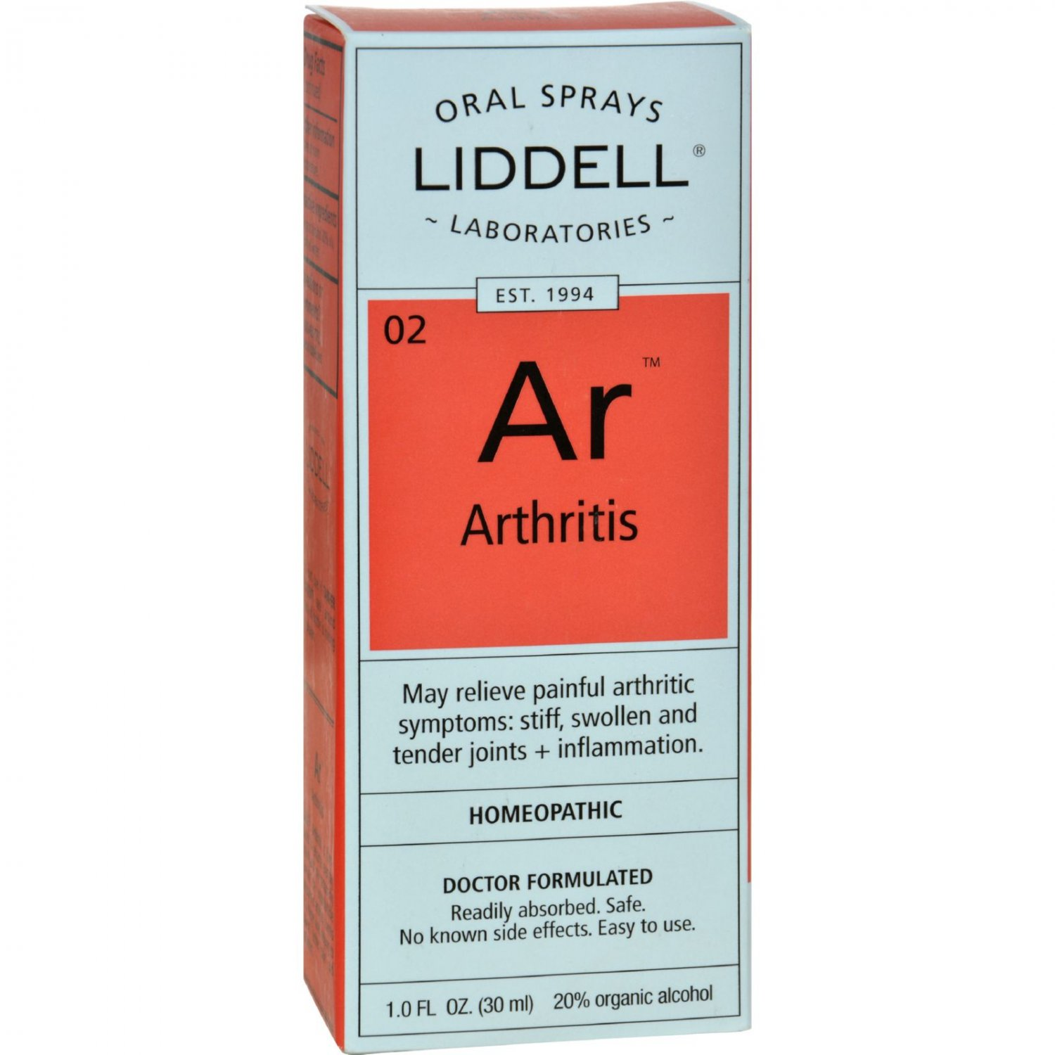 Liddell Homeopathic Arthritis Spray - 1 fl oz