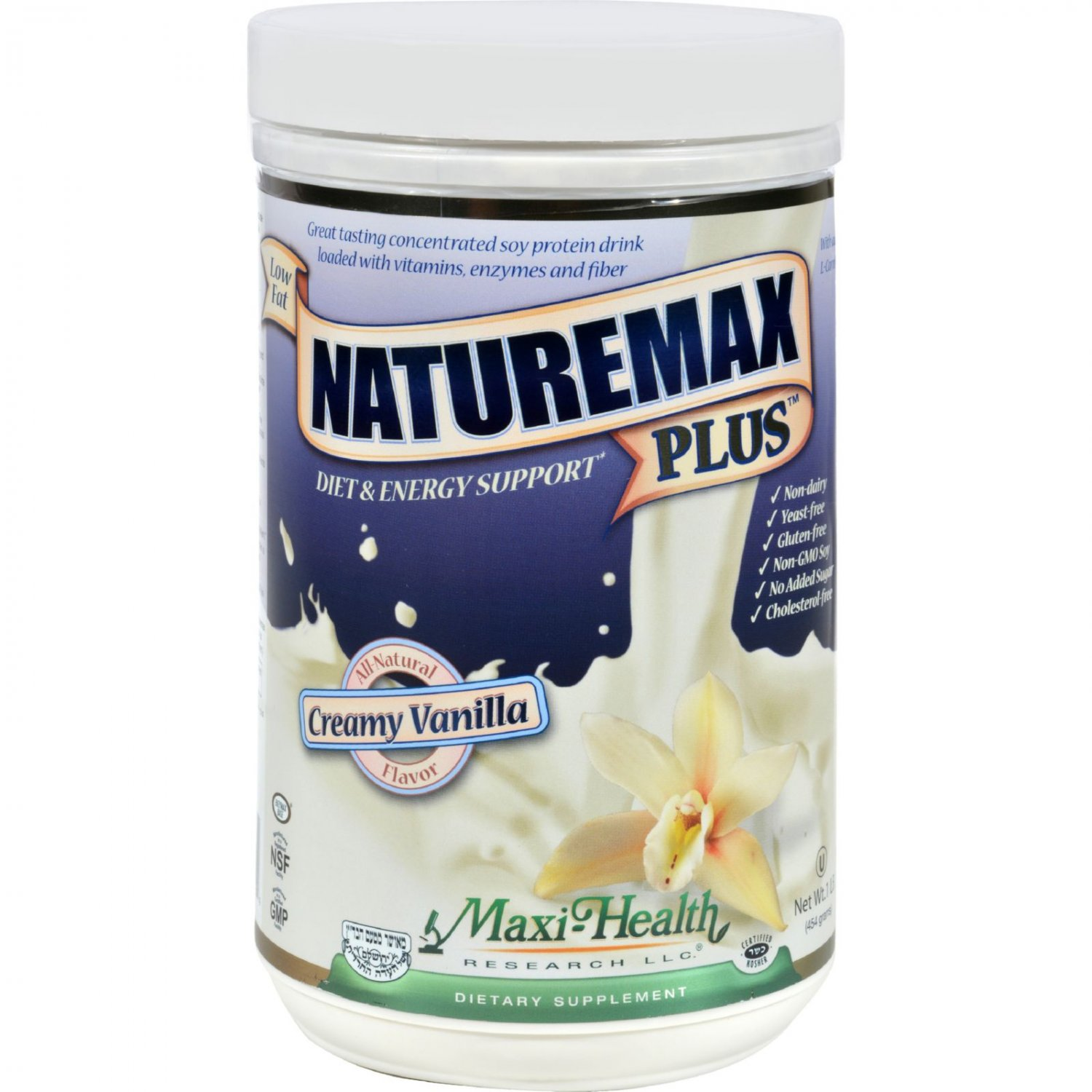 Maxi Health Naturemax Plus - Vanilla - 1 Lb.