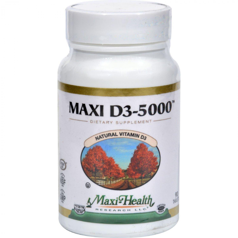 Maxi Health Kosher Vitamins Maxi D3 5000 - 5000 IU - 90 Tablets