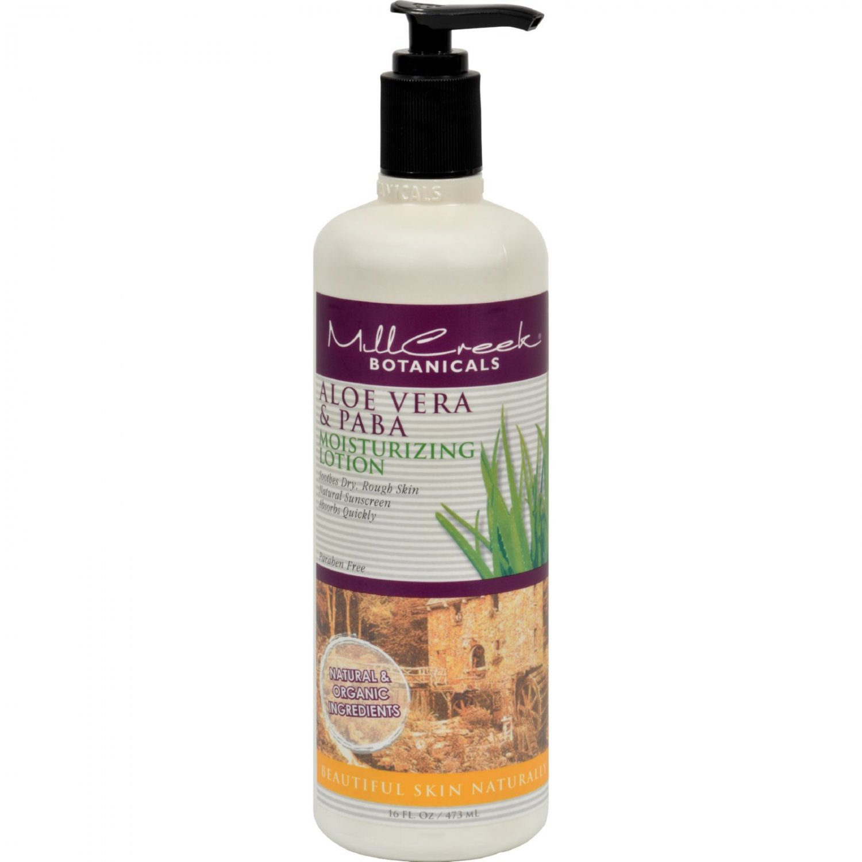 Mill Creek Aloe Vera and PABA Moisturizing Lotion - 16 fl oz