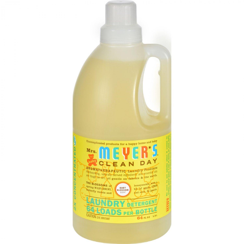 Mrs. Meyer's 2X Laundry Detergent - Baby Blossom - Case of 6 - 64 oz