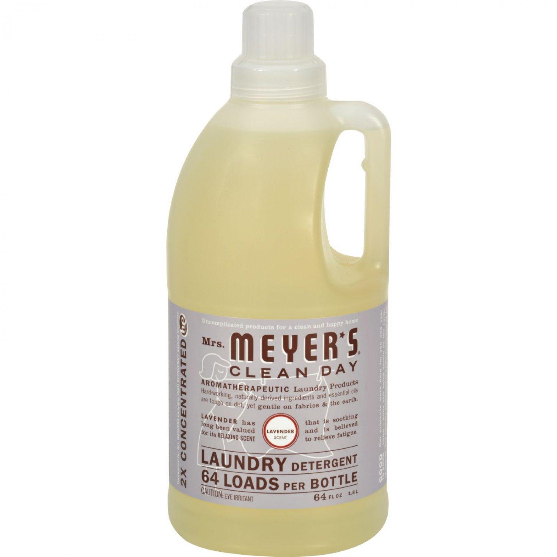 Mrs. Meyer's 2X Laundry Detergent - Lavender - Case of 6 - 64 oz