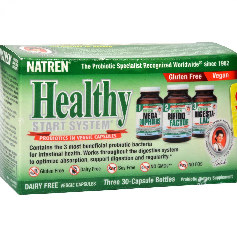 Natren Healthy Start System Dairy Free - 3 Bottles