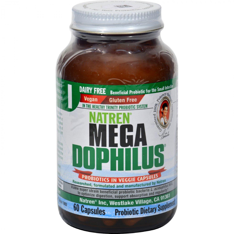 Natren Mega Dophilus Dairy Free - 60 Capsules