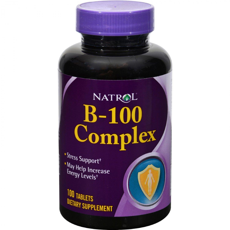 Natrol B-100 Complex - 100 Tablets