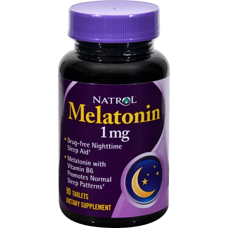 Natrol Melatonin - 1 mg - 90 Tablets